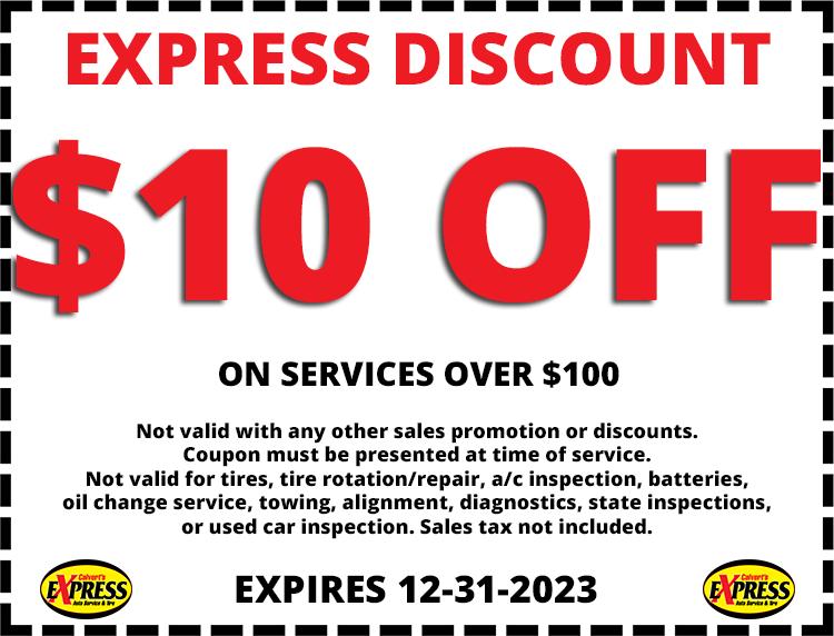 Calvert's Express Auto Service & Tire  Coupon Olathe Kansas